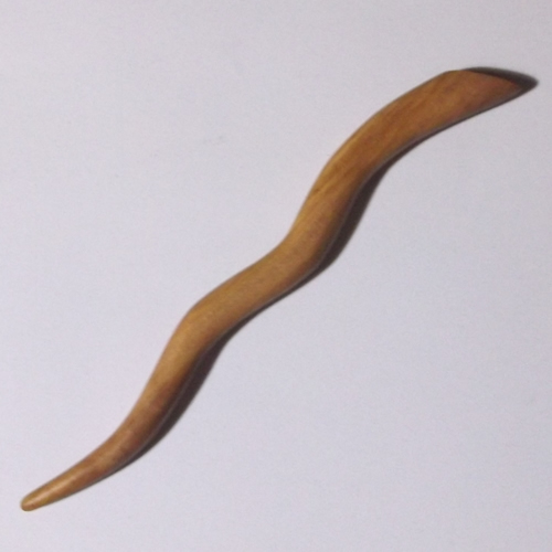 Olivewood wavy hairstick handmade by Natural Craft for Longhaired Jewels