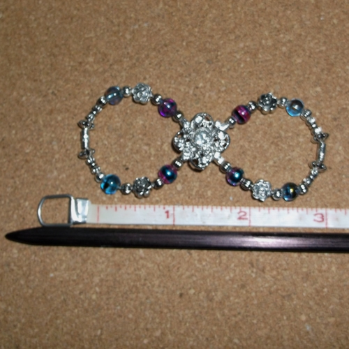 Aurora Infinity Barrette handmade by Longhaired Jewels