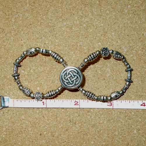 Plain and simple Infinity barrette made and supplied by Longhaired Jewels