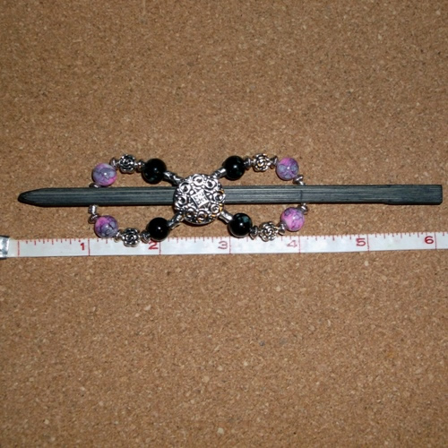 Pink/Grey & Black/White infinity barrette handmade by Longhaired Jewels