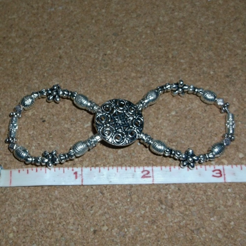 Plain and Simple Infinity Barrette handmade by Longhaired Jewels