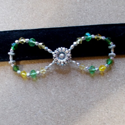 Springtime Infinity Barrette handmade by Longhaired Jewels