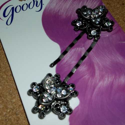 Diamante flower clips supplied by Longhaired Jewels