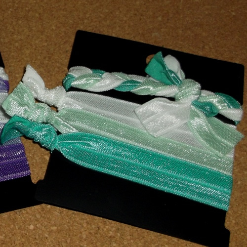 Gentle hair ties supplied  by Longhaired Jewels