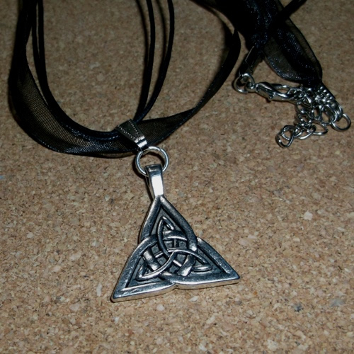 Triquetra necklace - supplied by Longhaired Jewels