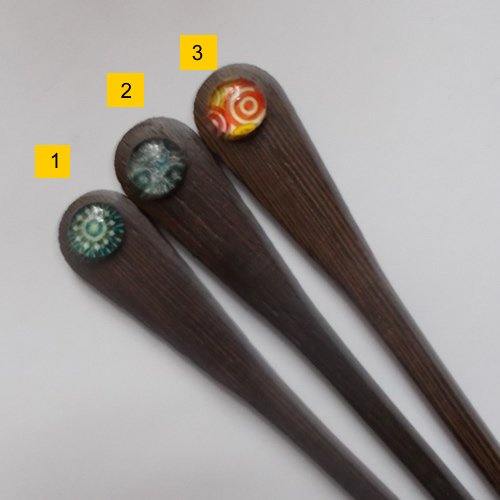 Paddle Hairsticks supplied by Longhaired Jewels